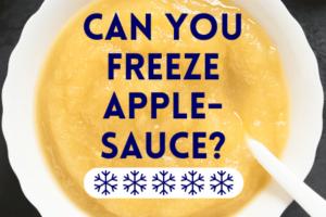 Can You Freeze Applesauce?