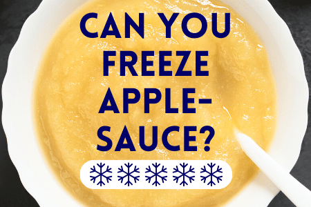 Can You Freeze Applesauce?