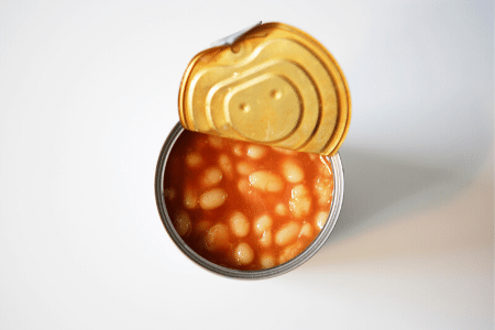 Can you freeze baked beans out of a can? Yes, but don't put the sealed can directly into the freezer.